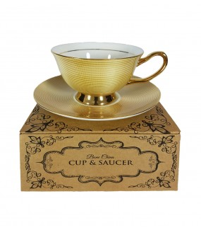 Bone China Cup & Saucer -...